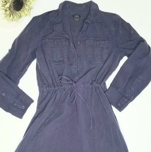 Banana Republic blue shirt dress